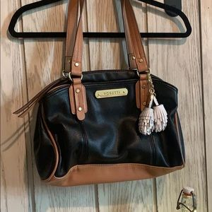 Black and brown purse
